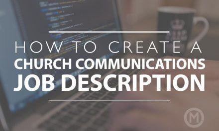 How to create a Church Communications Job Description