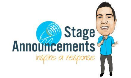 Stage Announcements and my new Ebook