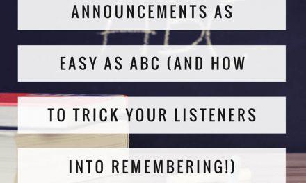 Announcements as easy as A-B-C